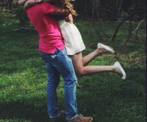 couple, happy, and hug image
