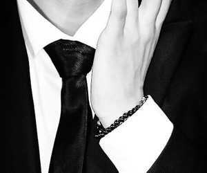 black suit, exo, and hands image