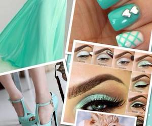 dress, shoes, and nails image