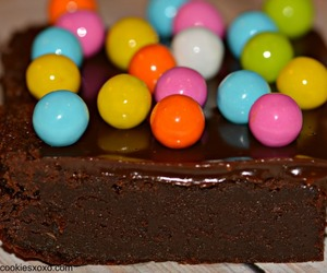brownie, cake, and candies image