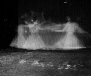 black and white and ghost image