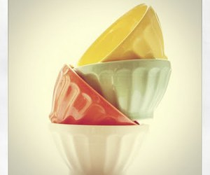 Anthropologie, bowls, and colors image