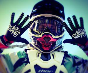 boy, motocross, and love image