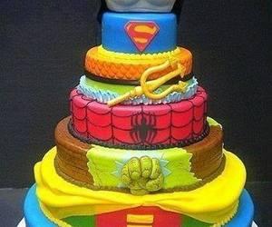 cake, batman, and superman image