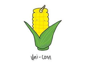unicorn, corn, and funny image