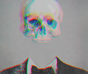 3d, cool, and skull image