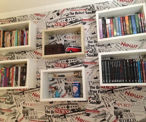 books, beautiful, and bookshelf image