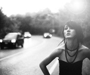 beads, girl, and road image