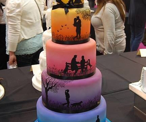 cake, love, and wedding image