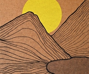 art, lines, and Moutains image
