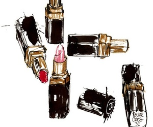 chanel, lipstick, and lips image
