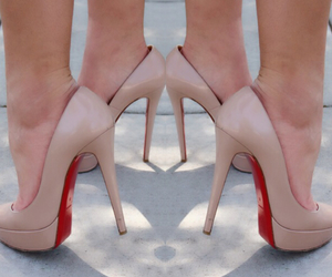 blogger, christian louboutin, and heels image