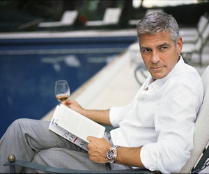 handsome, man, and clooney image