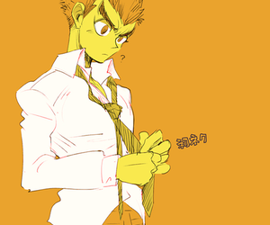dr, yellow, and cute anime boy image