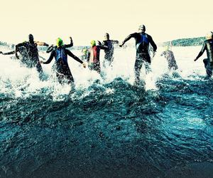 swimming, triathlon, and water image