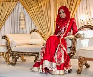 beauty, bride, and muslim image