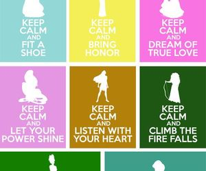 disney, princess, and keep calm image