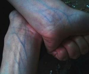 blood, bloody, and veins image