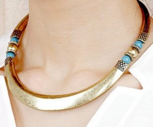 vintage, choker necklace, and tribal necklace image