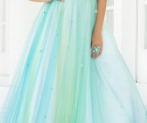 blue, green, and prom dress image