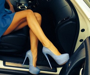 shoes, blue, and car image