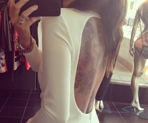 tattoo, dress, and white image