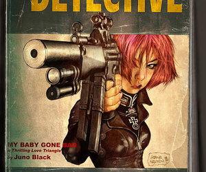 detective, girl, and illustration image