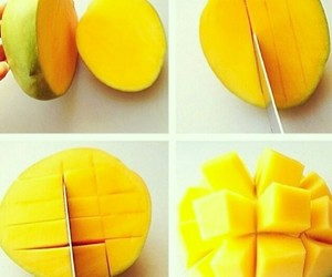 mango, fruit, and cut image