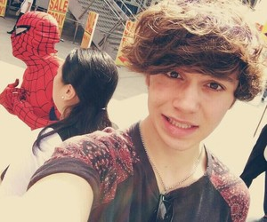 george shelley, union j, and spiderman image