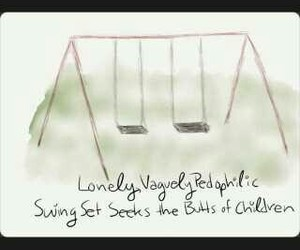 john green, swing set, and the fault in our stars image