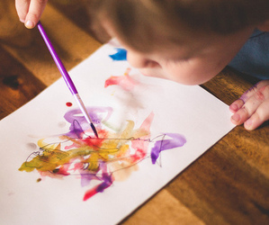 kids, cute, and paint image