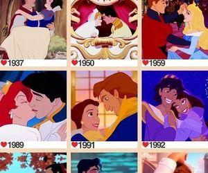 princess, disney, and kiss image