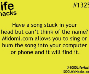 advice, life hacks, and song image