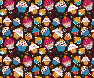 colorful, ice cream, and pattern image