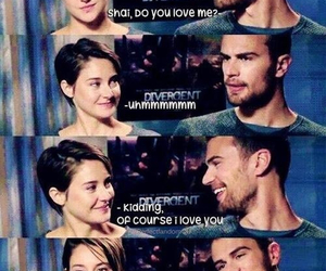 couple, Shailene Woodley, and divergent image