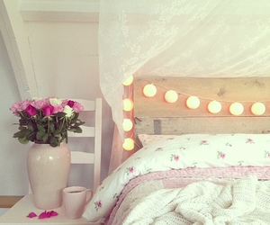 room, bedroom, and floral image