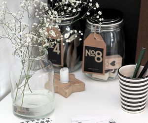 flowers, home, and workspace image