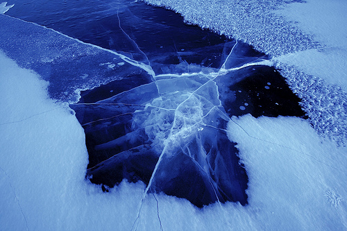 ice, blue, and winter image