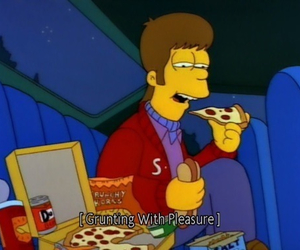 pizza, simpsons, and food image
