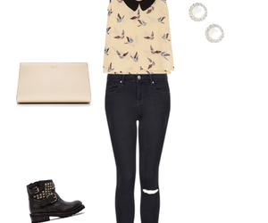 birds, black, and jeans image