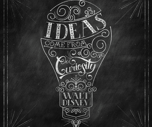 ideas, disney, and quote image