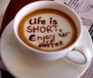 coffee, life, and enjoy image