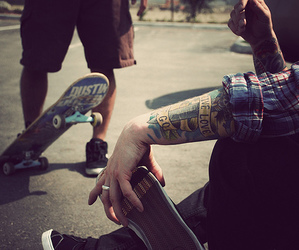 sk8 and tattoo image