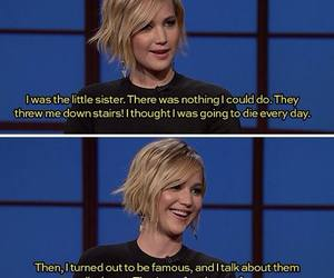 Jennifer Lawrence, funny, and karma image