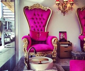 pink, luxury, and chair image