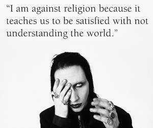 Marilyn Manson, religion, and quote image