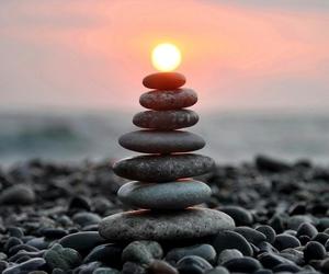 sun, sunset, and stone image