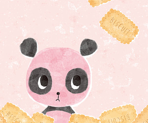 biscuit, illustration, and pink image