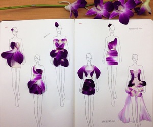 flowers, fashion, and dress image