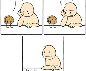 hungry, cookie, and funny image